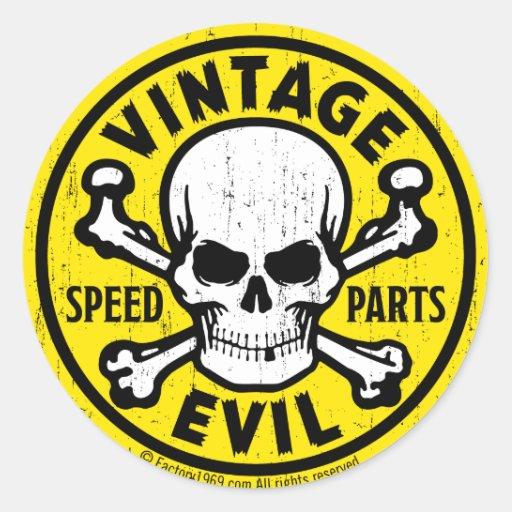 Mal vintage 007A Autocollant Rond