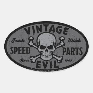 Mal vintage 007B Sticker Ovale