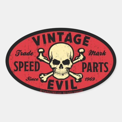 Mal vintage 007C Autocollants Ovales