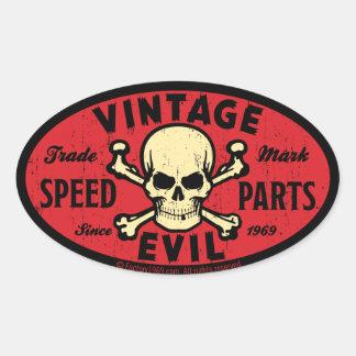 Mal vintage 007C Sticker Ovale
