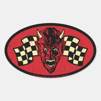 Mal vintage 009C Sticker Ovale