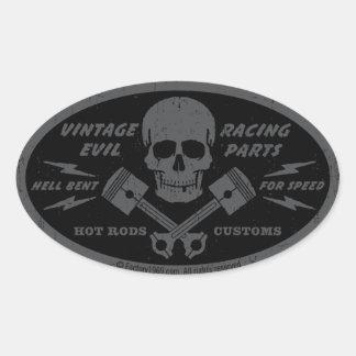 Mal vintage 012A Autocollants Ovales