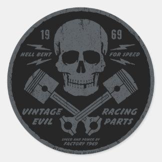 Mal vintage 012A Sticker Rond