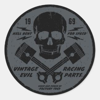 Mal vintage 012B Sticker Rond