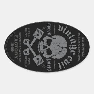 Mal vintage 014A Sticker Ovale