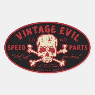 Mal vintage 016A Sticker Ovale
