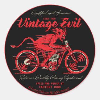 Mal vintage VE018A Sticker Rond