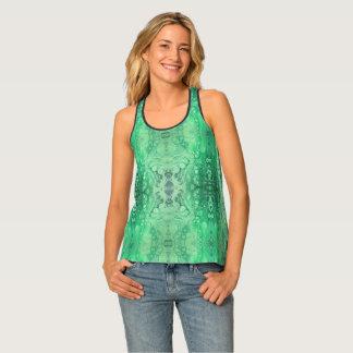 Malachite abstraite de vert de ton de bijou débardeur