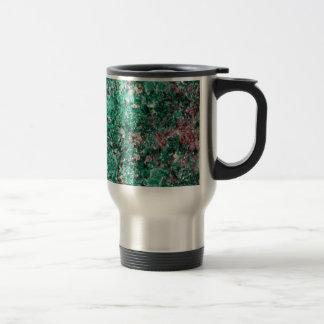 Malachite et cuivre mug de voyage en acier inoxydable