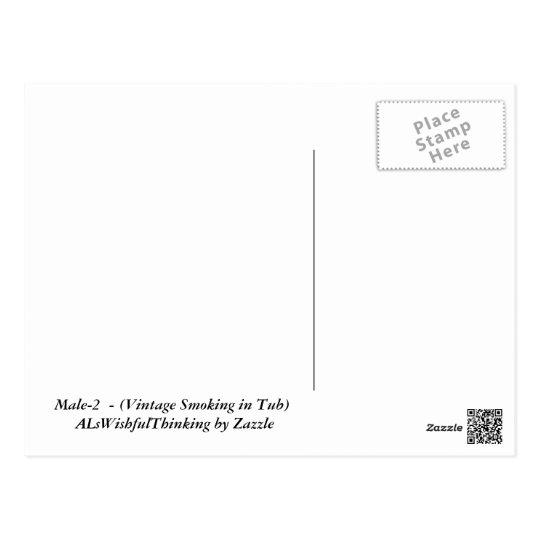 Male-2 (cru fumant dans le baquet) carte postale