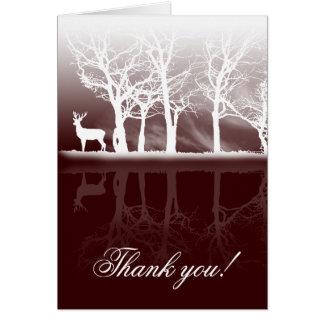 Mâle au carte de remerciements de crépuscule