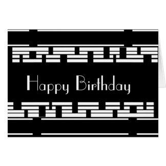 Mâle blanc noir d'anniversaire de Deco de carte