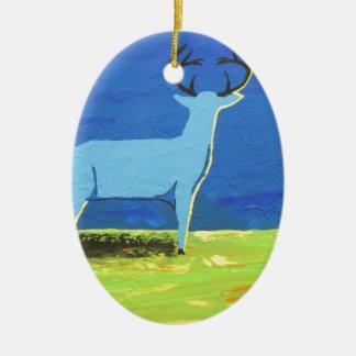Mâle bleu ornement ovale en céramique