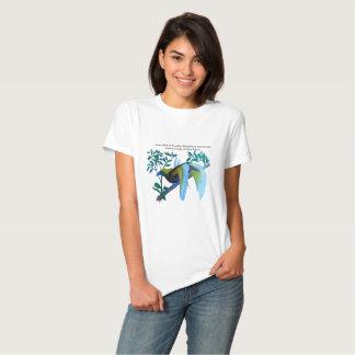Mâle peu d'oiseau du paradis t-shirts