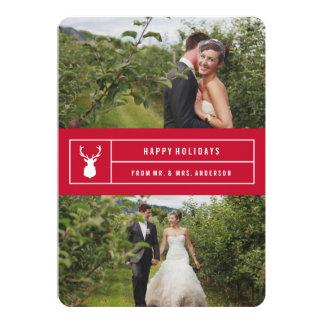 Mâle simple en rouge carton d'invitation  12,7 cm x 17,78 cm