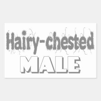 mâle Velu-chested Sticker Rectangulaire