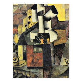 Malevich - instrument de musique carte postale
