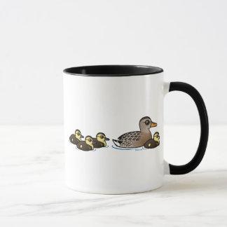 Mallard et quatre canetons mug