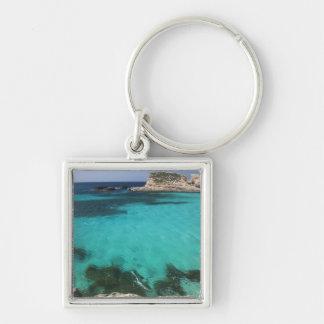 Malte, île de Comino, la lagune bleue Porte-clé Carré Argenté