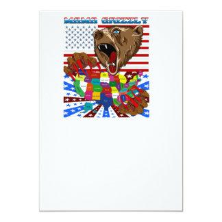Mama-Grizzly-Set-2 Carton D'invitation 12,7 Cm X 17,78 Cm