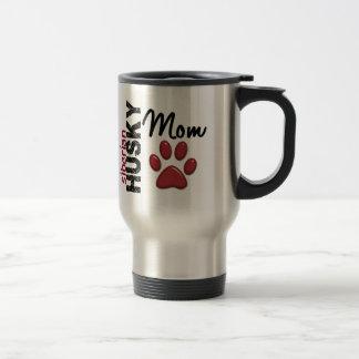 Maman 2 de chien de traîneau sibérien mug de voyage