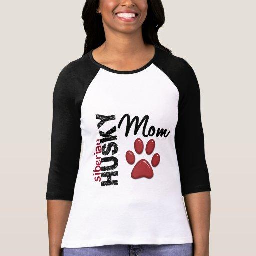 Maman 2 de chien de traîneau sibérien t-shirts