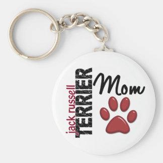 Maman 2 de Jack Russell Terrier Porte-clé Rond