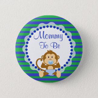 Maman à être bouton de baby shower de callitriche badge