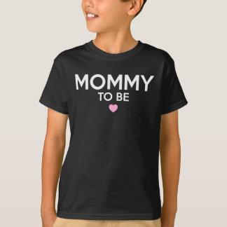 Maman à être T-shirt imprimé mignon pour de