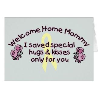 Maman à la maison bienvenue carte de vœux