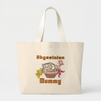 Maman abyssinienne de chat grand sac