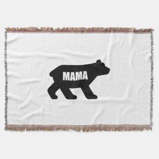 Maman Bear Black Couvre Pied De Lit