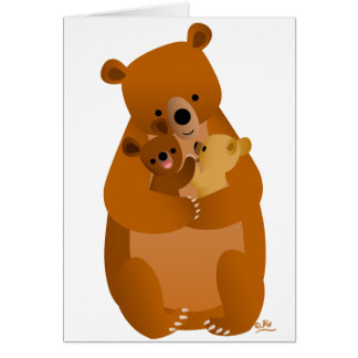 Maman Bear Carte De Vœux