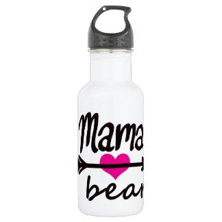 Maman Bear Funny Quote de maman par de mini frères Bouteille D'eau En Acier Inoxydable