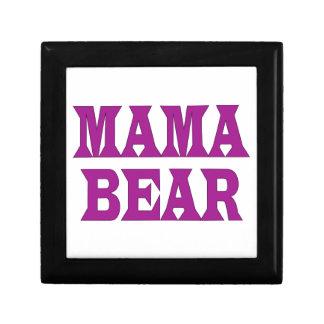 Maman Bear Petite Boîte À Bijoux Carrée