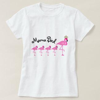 Maman Bird Flamingo T-Shirt avec quatre bébés