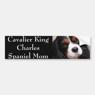 Maman cavalière d'épagneul du Roi Charles Autocollant Pour Voiture