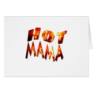 Maman chaude cartes de vœux