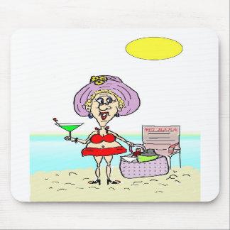 MAMAN CHAUDE MARTINI BEACH MOUSEPAD TAPIS DE SOURIS