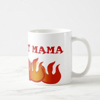 Maman chaude personnalisée Flames Mug
