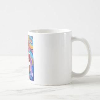 Maman d'amour de fleur mug blanc