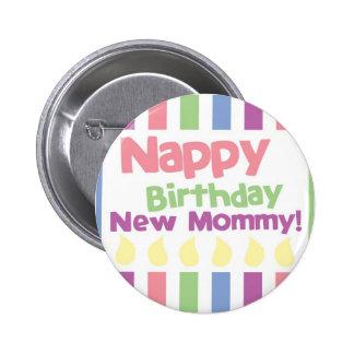Maman d'anniversaire de couche chère ! badge rond 5 cm