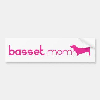 Maman de Basset Hound Autocollant De Voiture