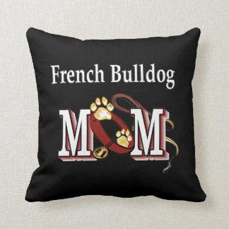 Maman de bouledogue français coussin