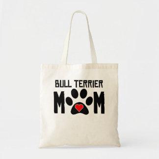Maman de bull-terrier sacs en toile