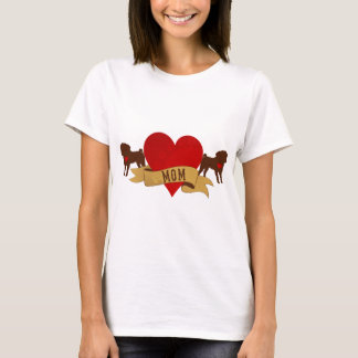 Maman de carlin [style de tatouage] t-shirt