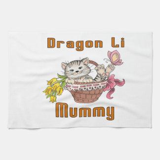 Maman de chat de Li de dragon Serviette Pour Les Mains