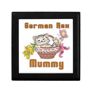 Maman de chat de Rex d'Allemand Petite Boîte À Bijoux Carrée