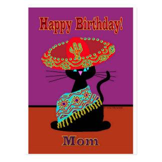 Maman de chat de sombrero cartes postales