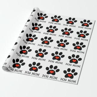 Maman de chien de Pawprint Papier Cadeau